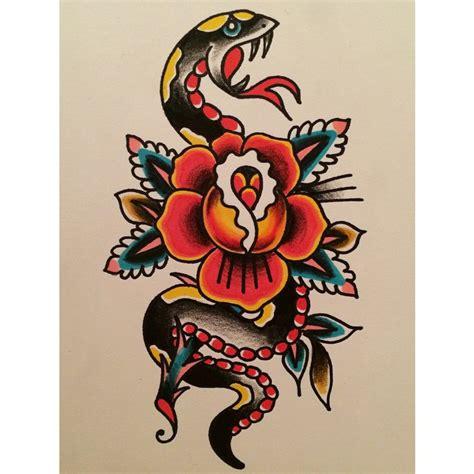 snake  rose tattoos