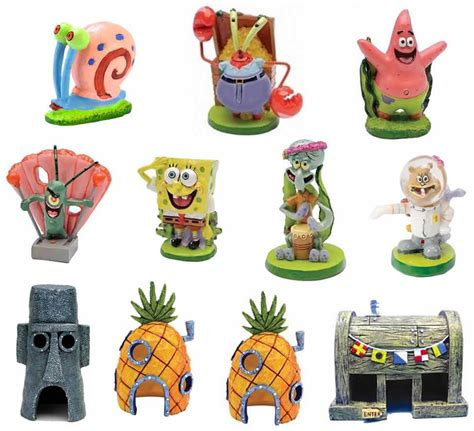 spongebob squarepants genuine aquarium ornaments sandy
