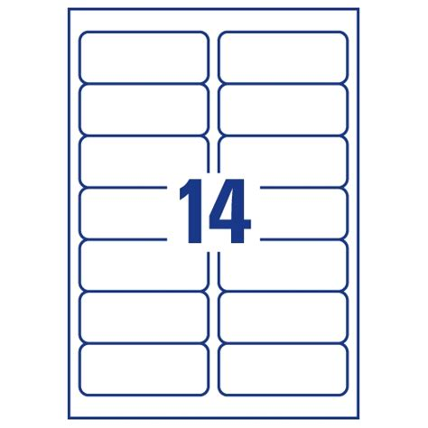 avery 14 per sheet clear label pack of 350 buy online at