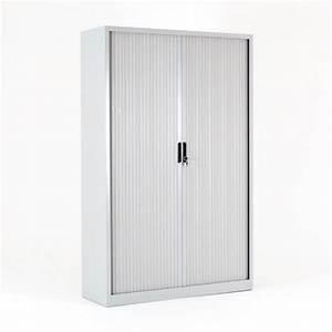 Armoire à Rideaux : armoire haute rideaux flap mobilier de bureau bdmobilier ~ Teatrodelosmanantiales.com Idées de Décoration