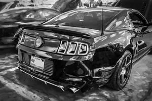 2013 Ford Shelby Boss 302 Coyote Mustang Painted Bw Photograph by Rich Franco