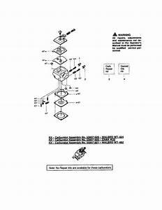 Poulan Chain Saw Carburetor - Wt324