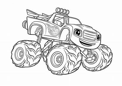 Monster Coloring Truck Printable Pages Digger Grave