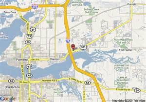 Map of Ellenton FL and Bradenton
