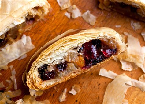 apple pear strudel  dried fruit  almonds recipe