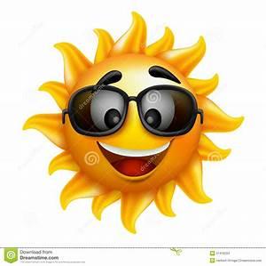 Happy Sun With Sunglasses, Vector Illustration Vector ...
