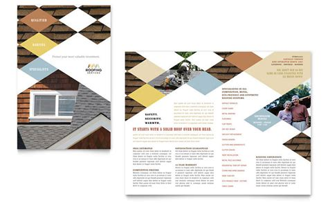 Three Quarters Apple Brochure Template Design And Layout Roofing Contractor Brochure Template Design