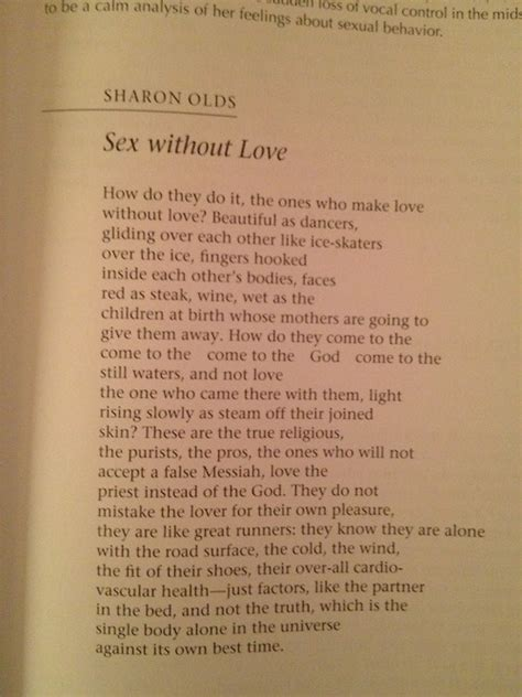 Analysis of sex without love by sharon olds free essays jpg 500x667