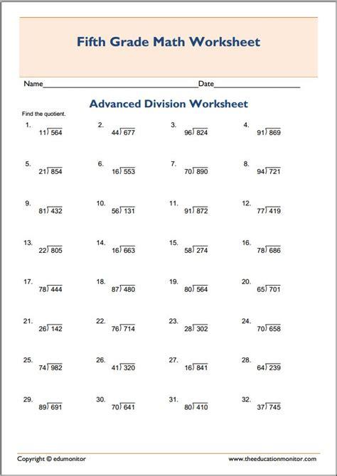 grade advanced division math