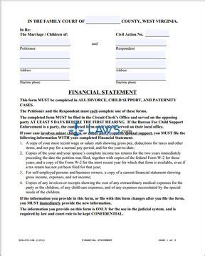 form sca fc  financial statement  respondent west