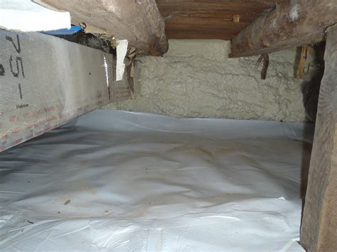 Spray Foam Insulation Crawl Space Dirt Floor by Spray Foam And Cleanspace Installation
