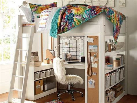 Girls Bedroom Ideas With Loft Bed With Study Desk And