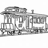 Train Caboose Coloring Railroad Clipart Drawing Pages Passenger Steam Locomotive Clip Engine Little Could Electric Getdrawings Luna Trains Amazing Cliparts sketch template