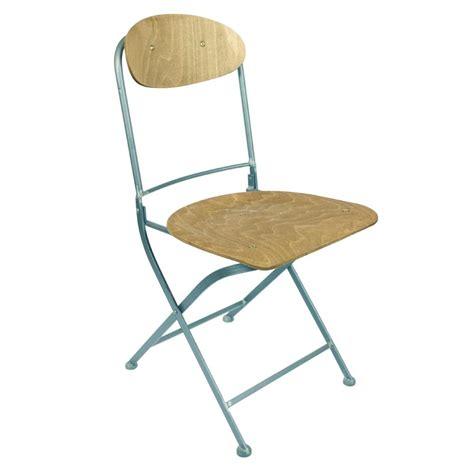 chaises pliantes bois lot de 2 chaises pliantes métal et bois knave par drawer fr