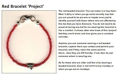 wtf pro anorexia bracelets