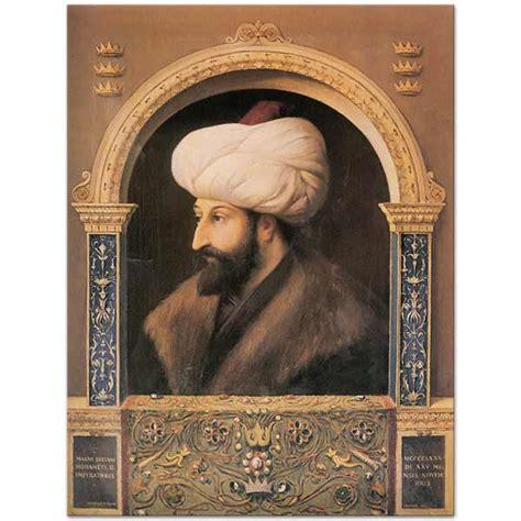 Fatih sultan mehmed, 30 mart 1432'de, o dönemde osmanlı devleti'nin başkenti olanedirne'de, ii. Fausto Zonaro Fatih Sultan Mehmet'in Portresi Kanvas Tablo   CANVASTAR