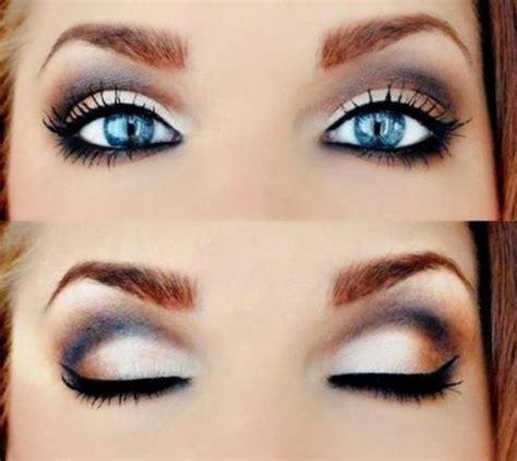 smokey eye  blue eyes herinterestcom