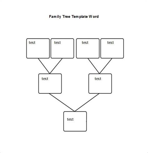 Family Tree Template Word Blank Family Tree Chart 6 Free Excel Word Documents