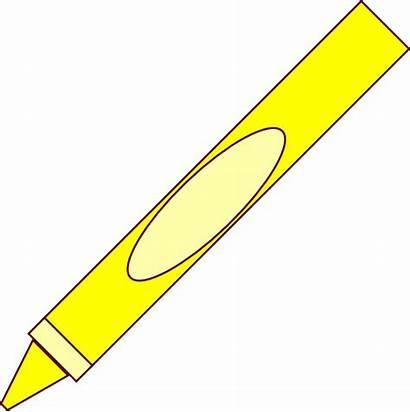 Crayon Clip Crayons Yellow Clipart Cliparts Crayola