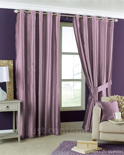 aubergine purple eyelet lined cheap striped curtain