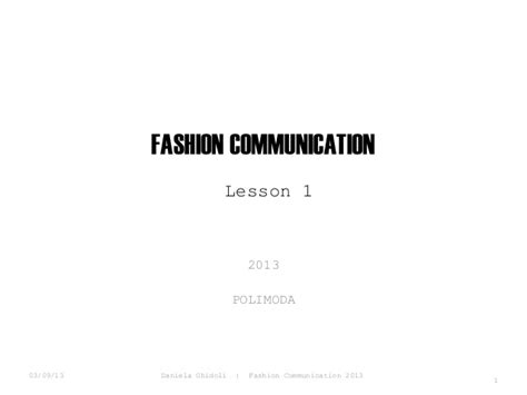 Fashion Communication & Strategic Planning Course Lesson 01