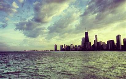 Chicago Skyscraper Wallpapers Backgrounds Clouds Desktop Fondos