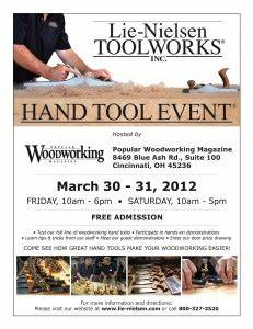Lie-Nielsen Hand Tool Event, March 30-31 at PWM - Popular