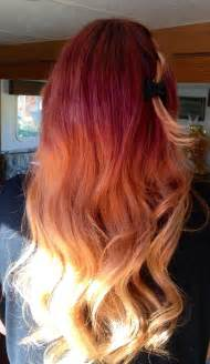Red to Blonde Ombre Hair Color