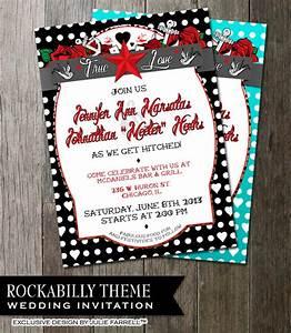 rockabilly wedding invitation for that offbeat by With rockabilly wedding invitations free