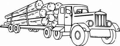 Coloring Truck Semi Logging Colouring Grain Vehicles