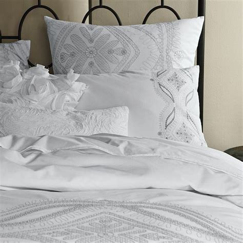 Maroc Embroidered Duvet + Shams  Modern  Bedding By