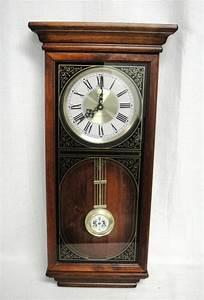 Verichron quartz wall hanging clock w westminster chime for Quartz westminster chime wall clock