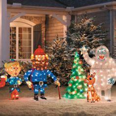 light  reindeer outdoor decorations images