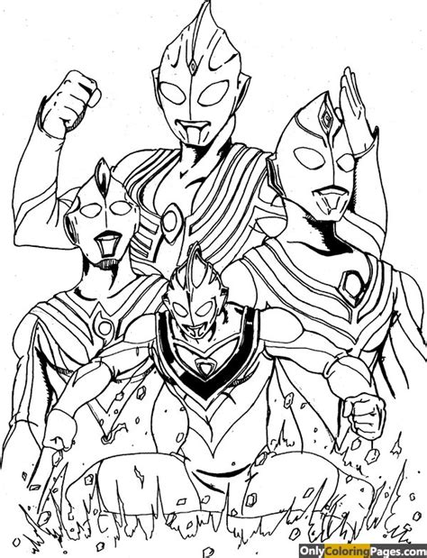 Coloring Ultraman Pictures by Ultraman Coloring Pages Free Printable Ultraman