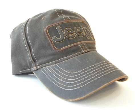jeep hat jeep brown quot leather quot trucker style cap california jeep