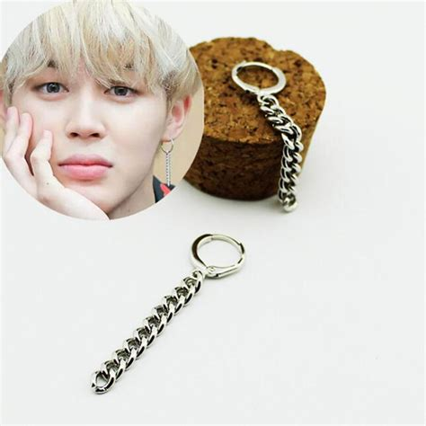 JIMIN BTS Chain Earrings on Storenvy