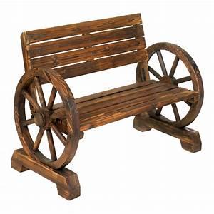 Wholesale Wagon Wheel Bench - Buy Wholesale Garden Decor