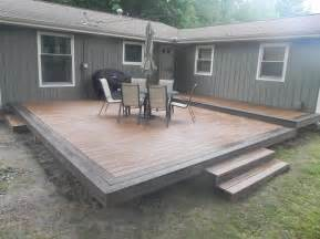 outdoor garden best trex composite decking installation