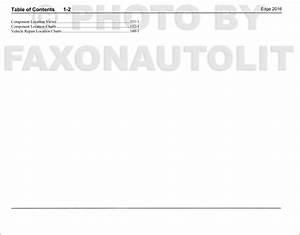 2016 Ford Edge Wiring Diagram Manual Original