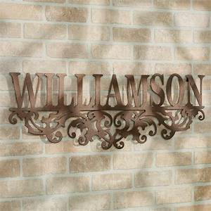 Kinship bronze family name personalized metal wall art sign for Family wall art