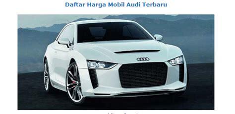 New Audi Cars Price List January 2016