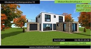maison contemporaine moderne et design d architecte With lovely maison bois toit plat 12 maison contemporaine avec patio