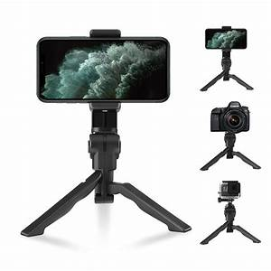 Elegant Choise 360° Rotation Extendable Phone Tripod Stand for Phone Camera,Adjustable Tabletop ...