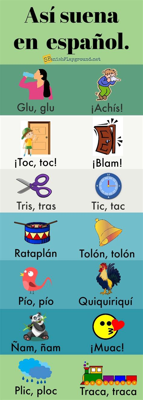 spanish onomatopoeia  kids spanish playground