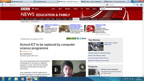 Charlotte's Blog 2012 » Blog Archive » Bbc News Article On