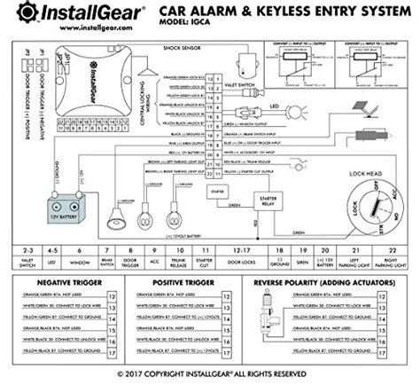 installgear car alarm security keyless entry system trunk import it all