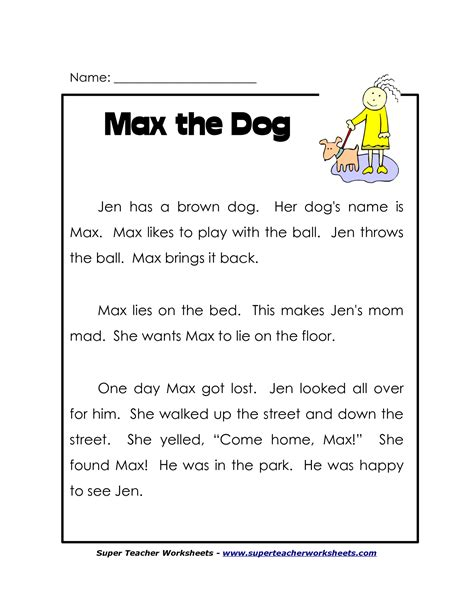 9 best images of second grade reading comprehension