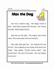 Best Reading Comprehension Worksheets Grade 1 - ideas and images on ...