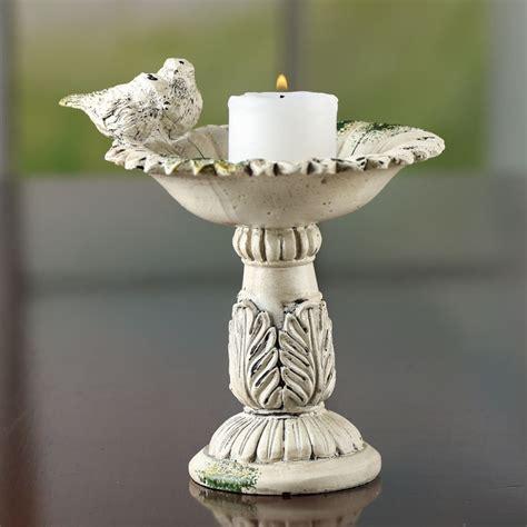 elegant bird bath candle holder candles  accessories