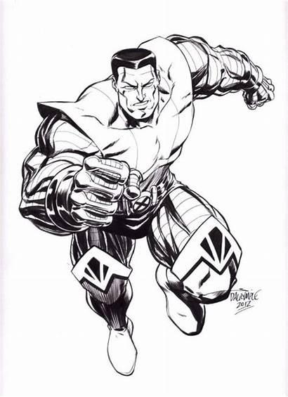Coloring Marvel Colossus Pages Comics Xmen Scott